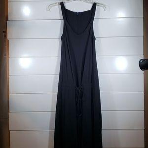 Gap High/Low black tie waist Midi tank dress XS